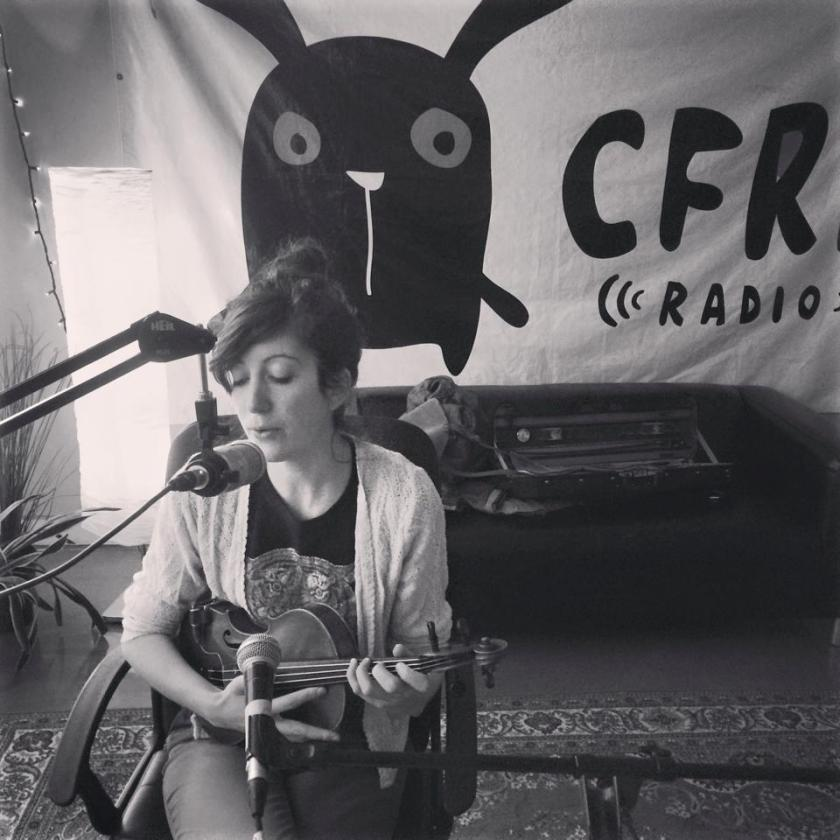 Lisa performing a couple of her own original tunes (you can find them on SoundCloud under the name L CON) in the CFRE studio.